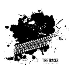 Tire track background vector image vector image