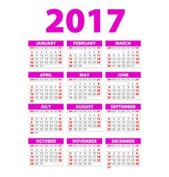 Year Wall Planner Plan out your whole year with vector image