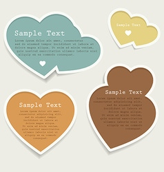 Love heart banner collection vector