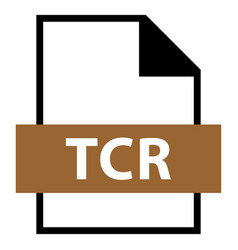 File name extension tcr type vector