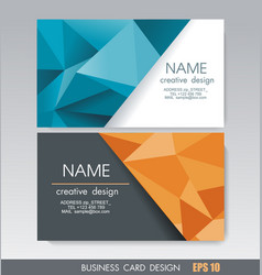 Business card design with bright geometric vector