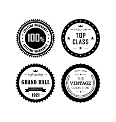 Vintage badges 4 vector