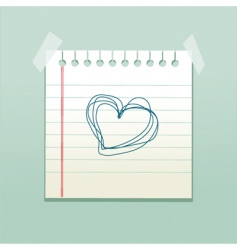 love note vector image