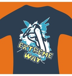 Extreme way - print for sweatshirt vector