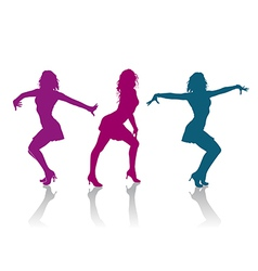 Girls dancing ladies dance vector