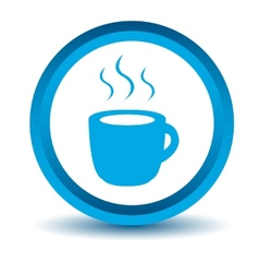 Blue coffee icon vector