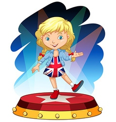 British girl on stage vector