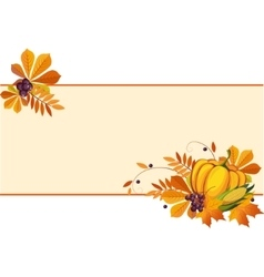 Autumn banners with ripe vegetables swirls and vector