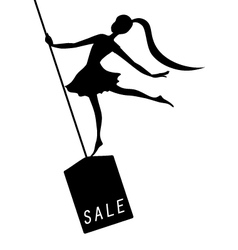 Silhouette woman black friday advertising vector