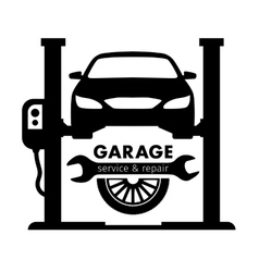 Auto center garage service and repair logo vector