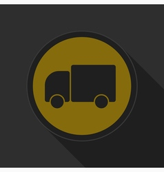 Dark gray and yellow icon - lorry car vector