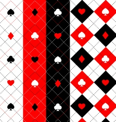 Poker seamless pattern set vector image