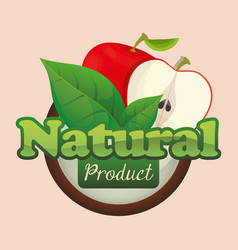 apple natural product fruit poster vector image