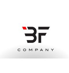 bf logo letter design vector image vector image