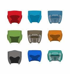 Boxing helmet set vector image vector image