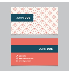 business card pattern red 11 vector image