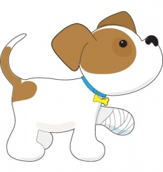 cartoon puppy vector image vector image