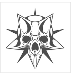 Cyber skull in star vector