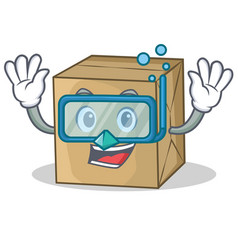 Diving cardboard character character collection vector