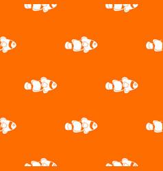 fish clown pattern seamless vector image