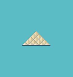 Flat icon louvre museum element vector