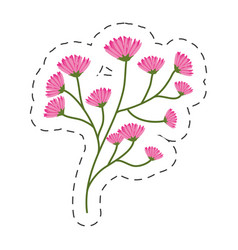 Flourishes branch spring image cut line vector