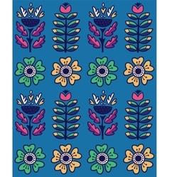 Folk art pattern with flowers vector
