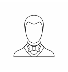 Groom icon outline style vector