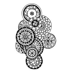 Henna paisley mehndi doodles design element vector