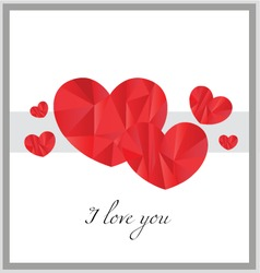 I love you card design vector