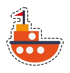Isolated boat toy design vector image vector image
