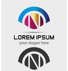 Letter N Logo Design Creative Symbol of letter N vector image vector image