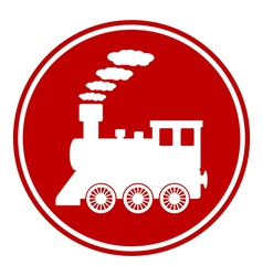 Locomotive button vector image
