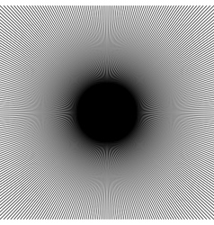 Many black lines optical with moire on vector