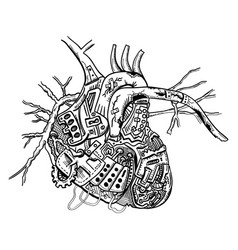 mechanical heart vector image vector image