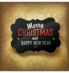 merry christmas design on golden background vector image vector image