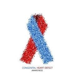 Modern congenital heart defect circles vector