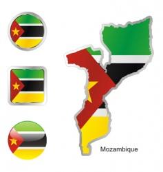 mozambique vector image