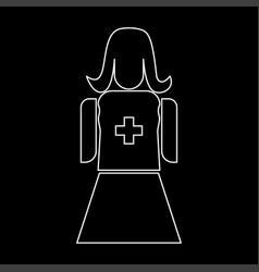 nurse the white path icon vector image vector image