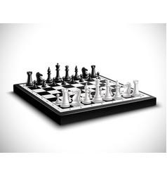 Realistic chess board vector