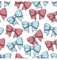 seamless background of vintage hand drawn ribbon vector image vector image