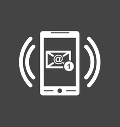 Smart phone with email symbol on the screen in vector