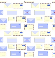 Snail mail letters envelopes seamless pattern vector image vector image