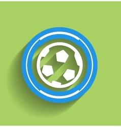 soccer ball icon flat modern icon vector image