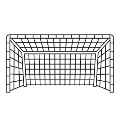 Soccer goal icon outline style vector