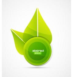 sun leaf vector image vector image