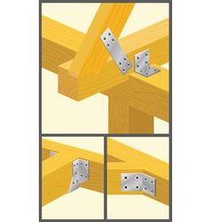 Types of connections bars and rafters1 vector