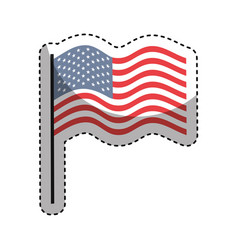 United states of america flag emblem vector