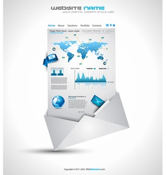 Website infographics vector