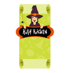 witch green poster vector image vector image